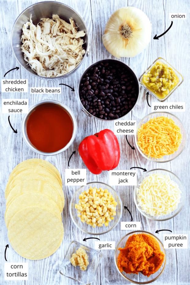 Ingredients photo for enchilada bake