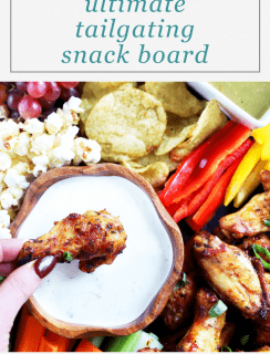 Tailgating Snack Board Pinterest Image