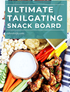 Homegating Snack Board Pinterest Picture