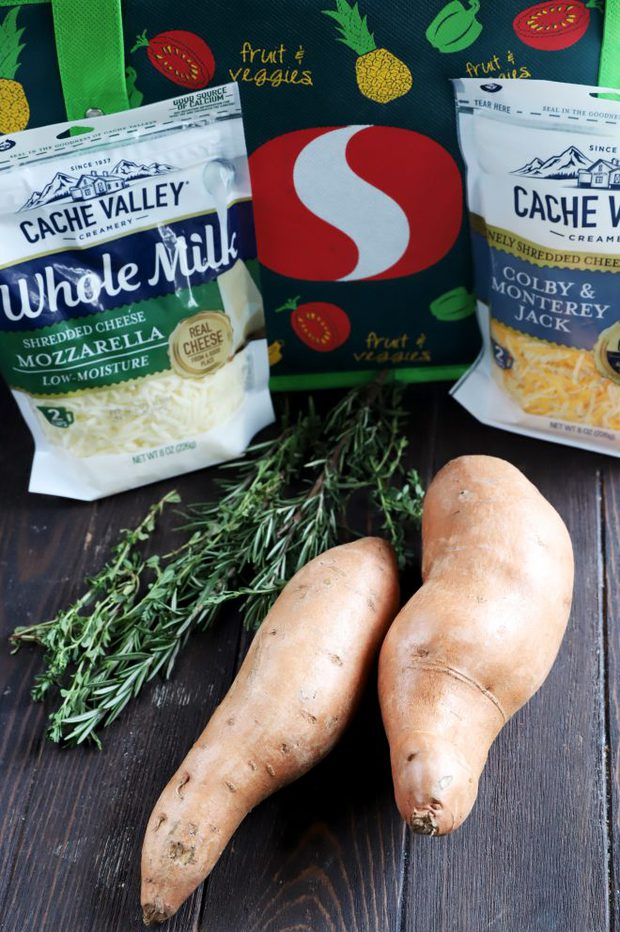 Ingredients for sweet potatoes and Cache Valley