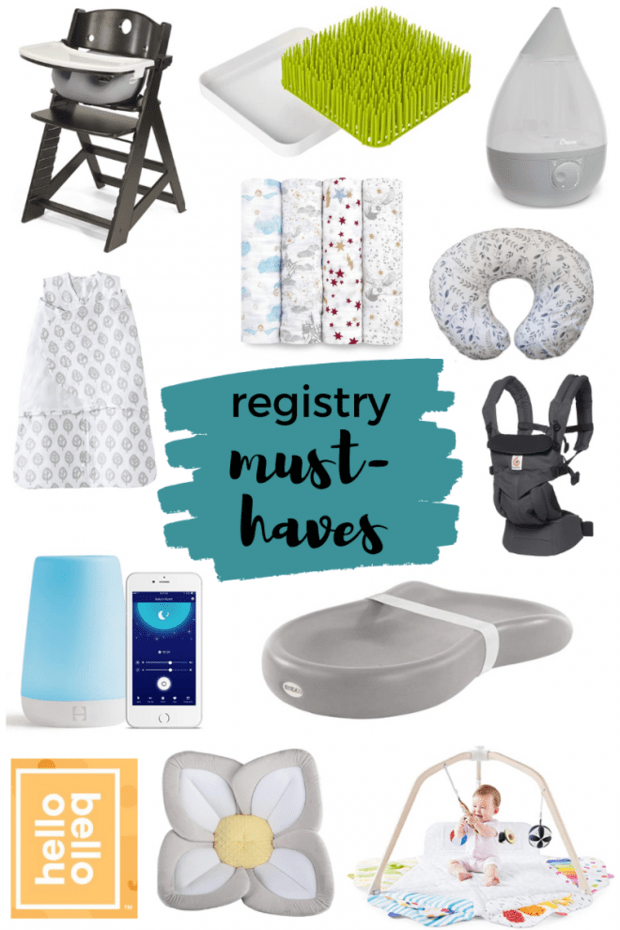Our Baby Registry Must-Haves Pinterest Image