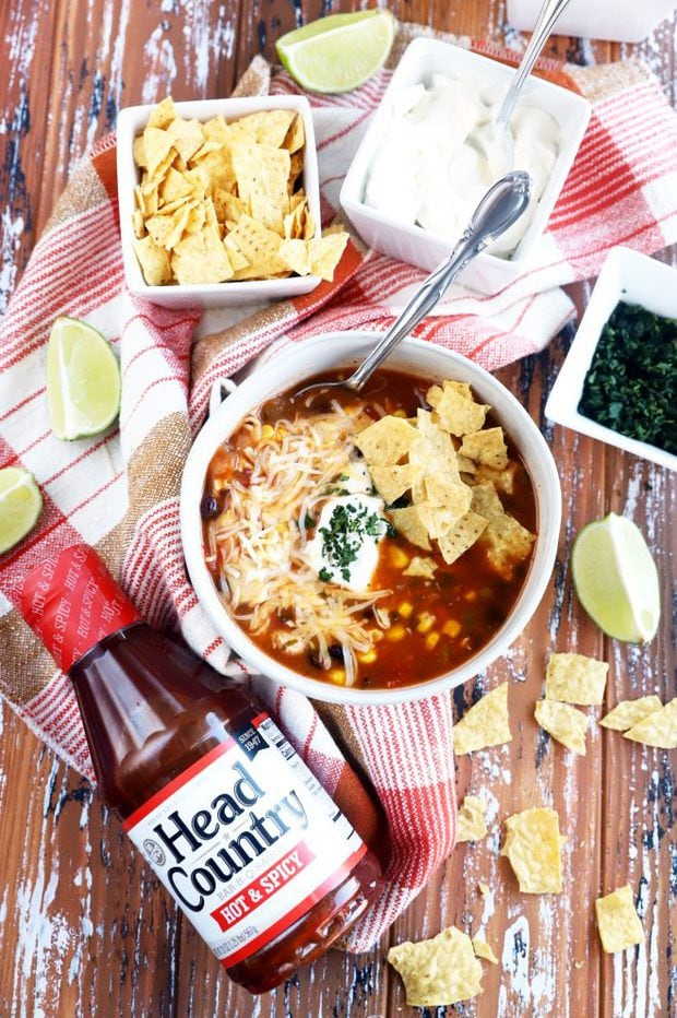 head country bbq enchilada soup image