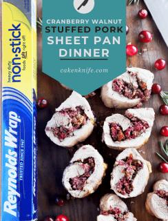 Cranberry Rosemary Walnut Stuffed Sheet Pan Pork Tenderloin Meal Pinterest Graphic
