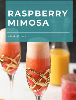 Raspberry Mimosa Pinterest Image