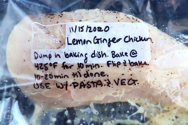 Lemon ginger chicken marinade image