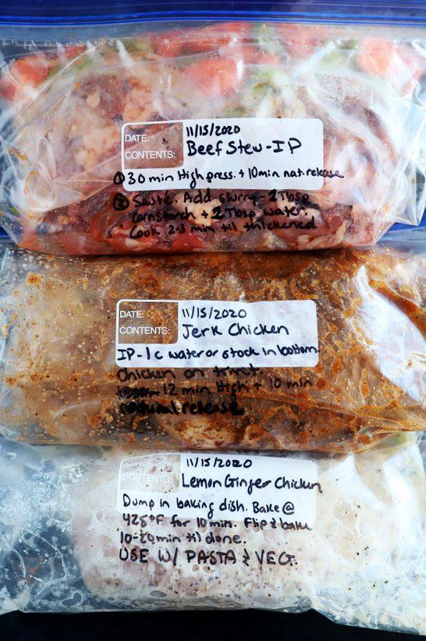 Freezer meal prep image