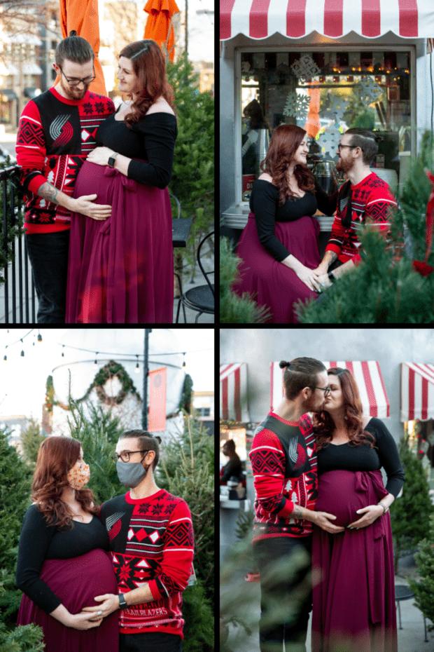 Maternity photoshoot collage image