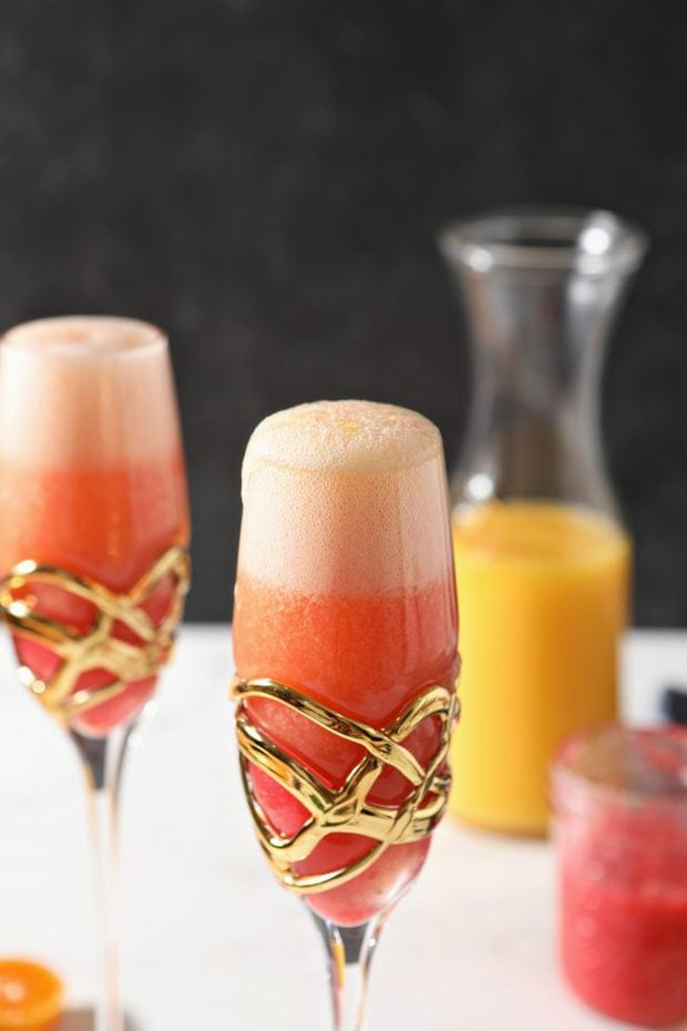 Raspberry mimosa photo
