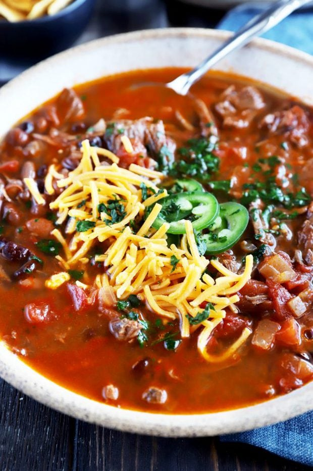 Bowl with Instant Pot chili image
