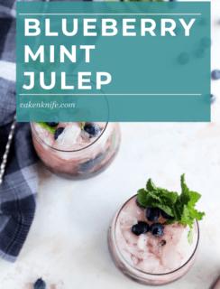 Blueberry Mint Julep Pinterest Image