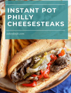Pinterest image for philly cheesesteaks