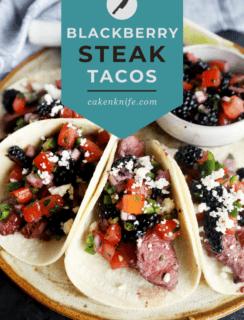 grilled steak tacos pinterest image