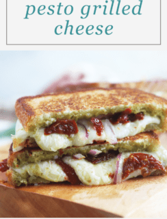 Pesto Grilled Cheese Two Ways!