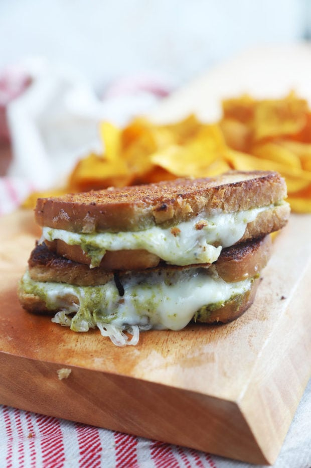 Kid friendly pesto grilled cheese image