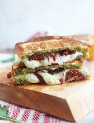 Adult friendly pesto grilled cheese image