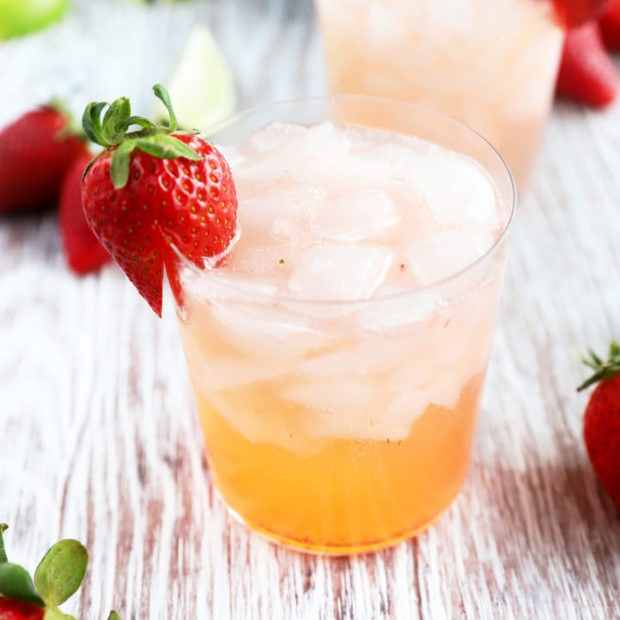 Strawberry tequila fizz picture