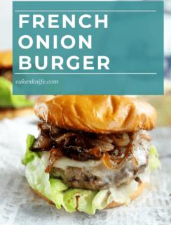 French Onion Burger Pinterest Image