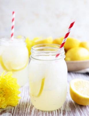 Picture of homemade vodka lemonade in glasses