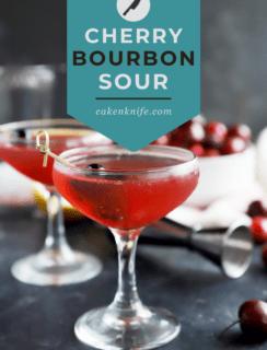 Cherry Bourbon Sour Pinterest Image