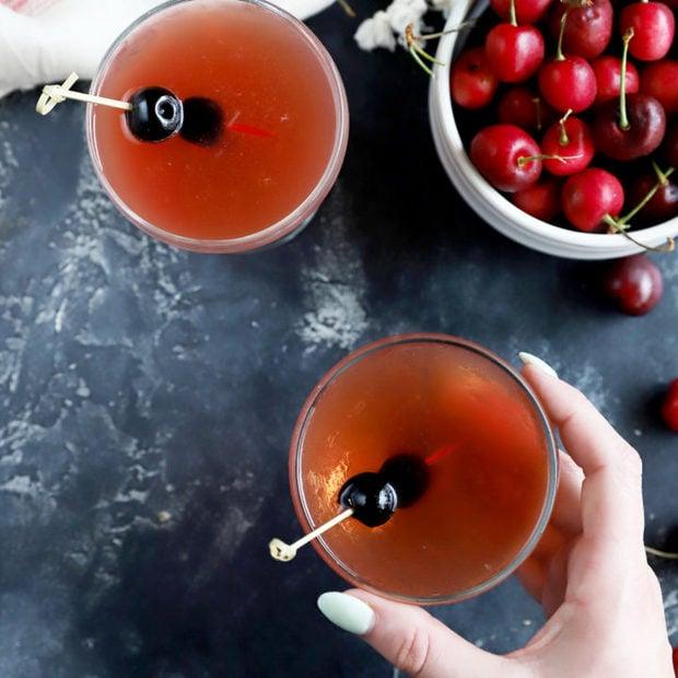 Cherry bourbon sour thumbnail image