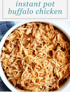 Instant Pot Buffalo Chicken Pinterest Graphic