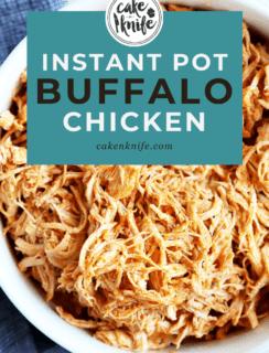 Instant Pot Buffalo Chicken Pinterest Image