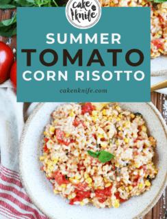 Summer Corn Tomato Risotto Pinterest Image