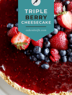 Triple Berry Cheesecake Pinterest Graphic