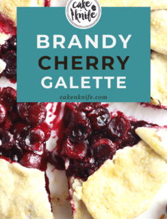Brandy Cherry Galette Pinterest Image