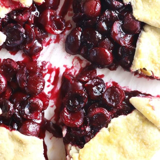 Brandy cherry galette image
