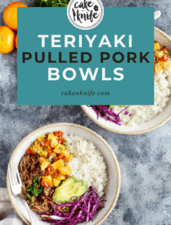 Teriyaki Pulled Pork Bowls with Mandarin Salsa Pinterest Image