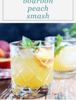 Bourbon Peach Smash Pinterest Graphic