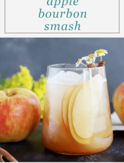 Apple Bourbon Smash Cocktail Pinterest Image