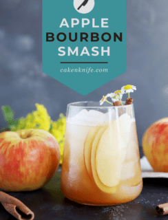 Apple Bourbon Smash Cocktail Pinterest Picture