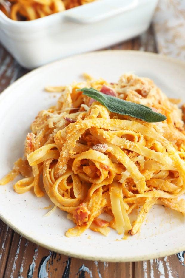 Side photo butternut squash pasta