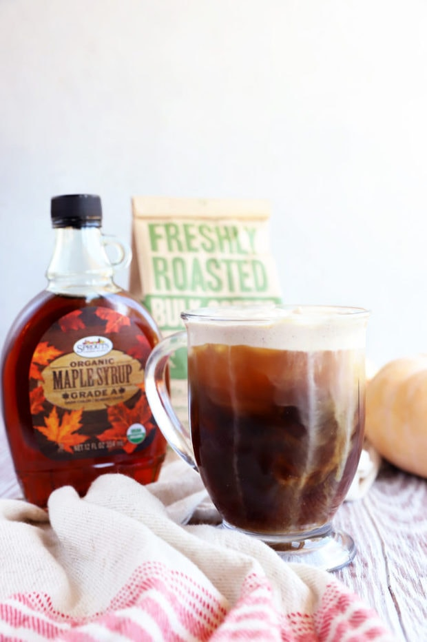 Image of maple coffee drink