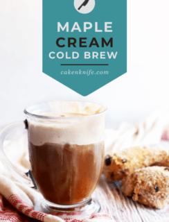Maple Sweet Cream Cold Brew Pinterest Graphic