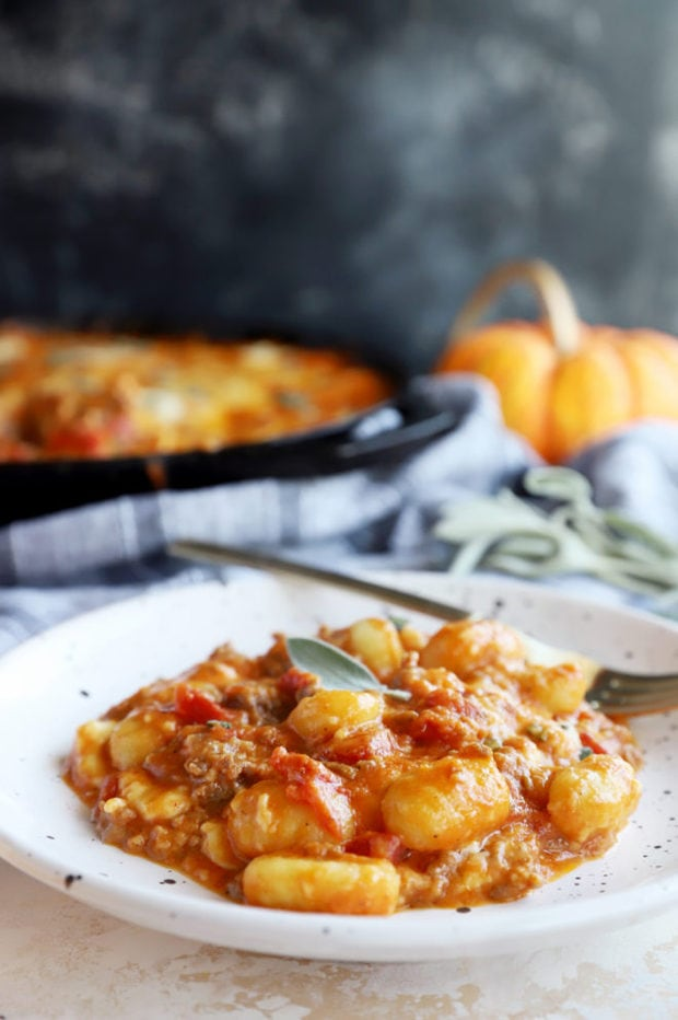 Plate of pumpkin gnocchi image